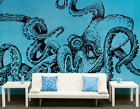Octo Wall - Tile Mural