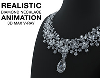 JEWELRY ANIMATION- DIAMOND NECKLACE ANIMATION 3Ds MAX,