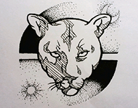 Henna/ tattoo totems design.