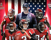 Atlanta Falcons Training Camp / Military Day Poster