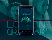 """London Grammar"" Android Mobile Music App"
