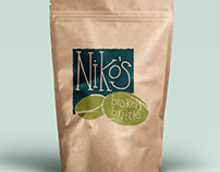 Niko's Broken Brittle Label Design Assignment