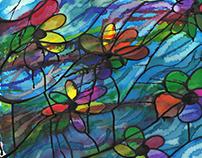 Flores acuáticas. (Tres en ColombianArt) (v)