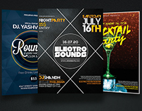 Night Club Party Flyer Template Bundle Vol - 02