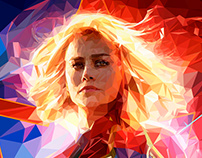 Captain Marvel - Low Poly