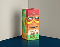 V Fresh Coconut Juice - Packaging Design