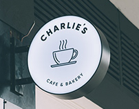 Charlie's Cafe Bakery Branding