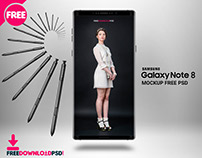 Samsung Galaxy Note 8 Mockup Free Psd