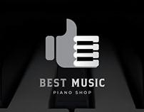 Minimailist music shop logo