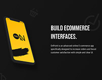 OnPoint E-commerce App & UI-Kit for Figma (FREE)