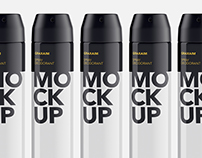 Metallic Spray Bottle Deodorant - Mockup