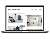 Natalia Karczewska, visual artist portfolio website