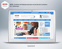 IRSN : Webdesign du nouveau site internet