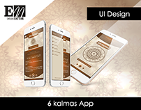 Six Kalma App (UI Design)