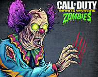 Call of Duty Zombie Illustrations Marketing Campaign