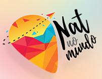 Identidade visual e Blog - Nat no Mundo