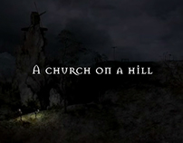 Church on a hill (clip)