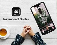 Inspirational Quotes : Mobile App Design