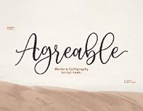 Agerable Script Free Font