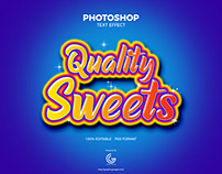 Free Sweets Photoshop Text Effect