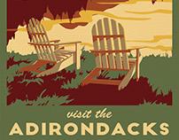 Visit the Adirondacks travel poster