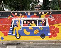 German Embassy Mural