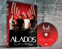 Diseño de DVD ALADOS en vivo en la Trastienda