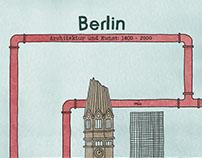 Berlin - Illustrated backlight frame