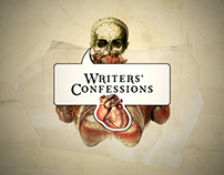 Writers' Confessions - series broadcast design package