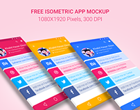 #Freebie: Download Isometric App Mockup for Free!