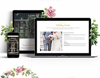 Belle - Responsive Wedding Template. Web design