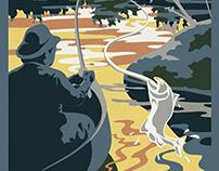 Trout Lake Travel Poster