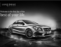 LuxeDrive Microsite for Mercedes