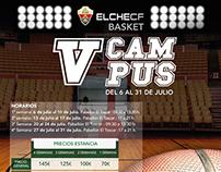 Cartel V Campus de verano Elche CF Basket