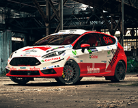 Ford Fiesta Rally Mobil - 3D Model/Render