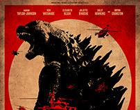 """Godzilla"" / fan art poster"