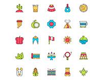 Peru Icons Set