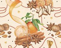 christmas pattern for Afisha-Eda