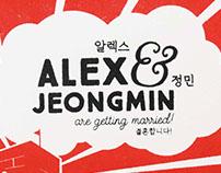 Alex & Jeongmin wedding invitations