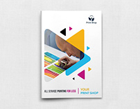 Print Shop Brochure Template - 12 Pages
