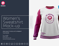 Women's Crew Neck Sweatshirt Mockup
