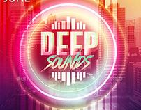 Deep Sounds Party   Psd Flyer Template