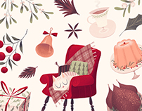 Christmas illustrations 2017