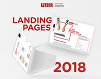 Landing pages UMM 2018