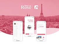 Diner en rose - Food concept app