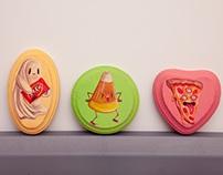 Little junk food paintings