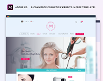 E-commerce cosmetics website(3 FREE TEMPLATE)