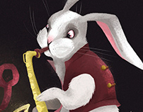 Rabbit with Sax