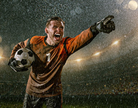Rainy Soccer Portraits