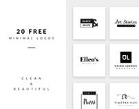 Free 20 Minimal Logos